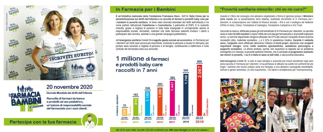 """Fondazione Rava: """"In farmacia per i bambini"""""""