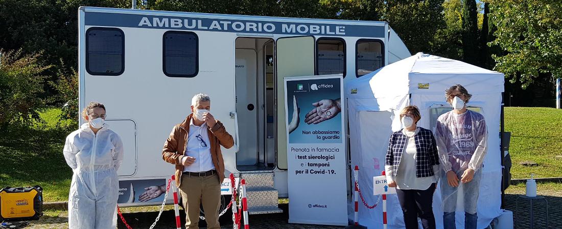 Federfarma Brescia: un camper in tour per tamponi e sierologici