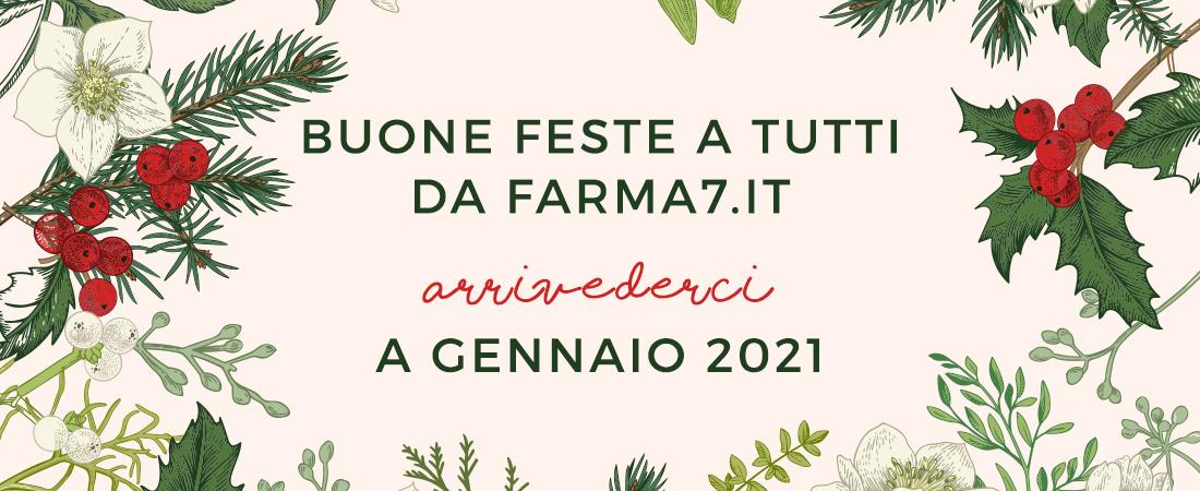 """Buone feste a tutti da """"farma7.it""""! Arrivederci a gennaio 2021"""